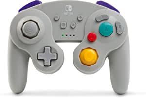 PowerA 游戏手柄 无线官方许可 GameCube风格/ 任天堂明星大乱斗 灰色