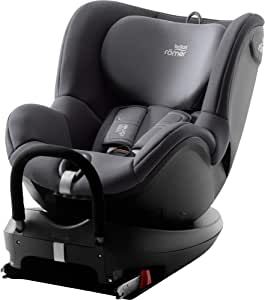 Britax 宝得适 Römer DUALFIX 2 R 儿童汽车安全座椅 适用于0-4岁/0-18kg儿童 可旋转式Isofix锁 组别0+/1,风暴灰