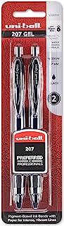 uni-ball 207 Retractable Gel Pens, Medium Point (0.7mm), Black, 2 Count