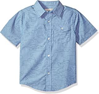 Lucky Brand 男婴短袖条纹纽扣衬衫