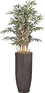 Vintage Home 人造 96.52 厘米高人造竹树,带纤维石花盆,适用于家居装饰