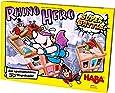 """Haba 302808 犀牛英雄(Rhino Hero Super Battle),精彩的3D堆叠游戏,适合5岁以上的儿童,畅销技能游戏,由""""年度至佳儿童游戏""""评审团推荐"""