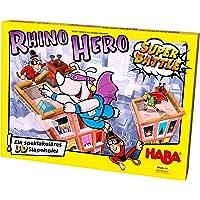 Haba 302808 犀牛英雄(Rhino Hero Super Battle),精彩的3D堆叠游戏,适合5岁以上的儿…