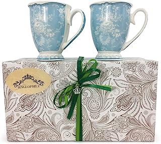 骨瓷杯两件套礼品盒 Blue Toile