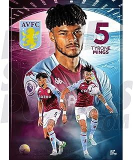 Be The Star Posters 阿斯顿别墅 FC 2020/21 Tyrone Mings A2 足球海报/印刷/墙艺术 - 官方*产品 - 提供 A3 和 A2 (A2)
