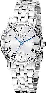Tissot 女式 Carson 瑞士石英不锈钢正装手表(型号:T1222101103300)