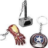 Sio & Tan Thor Stormbreaker Hammer Axe Thanos 手套钢铁侠钥匙扣无限手套钥匙…