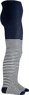 Playshoes 儿童连裤袜,适合男孩和女孩,弹性棉质连裤袜,带舒适腰带,通过有害物质测试,带鲸图案条纹