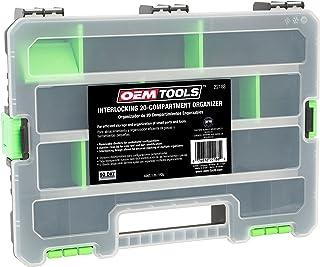 OEMTOOLS 22188 互锁 20 隔层收纳器   可拆卸分隔器用于定制工具存储   收纳架可堆叠   多个 20 个隔层收纳架是一个强大的存储解决方案