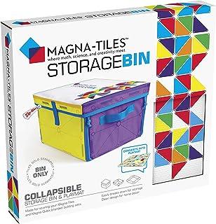 Magna-Tiles 储物箱和互动游戏垫,可折叠储物箱,带手柄,适用于游戏室、壁橱、卧室、家庭组织和教室,12.5 x 11 x 8 英寸(约 31.8 x 27.9 x 20.3 厘米)垃圾桶