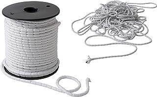 IPEA 铅编织物 - 10米 - 窗帘的铅笔绳,织物-各种克重-重量-白色-25克/米
