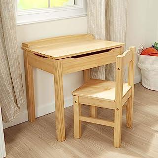 Melissa & Doug 儿童升降式桌椅-蜂蜜色