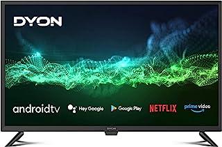 DYON Smart 32 AD 80 厘米(32 英寸)电视机(HD,HD 三重调谐器,Google Play Store,Google Assistant,Prime 视频,Netflix,BT遥控器带麦克风)[2021年款]