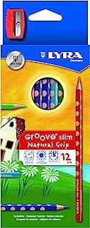 德国 LYRA 艺雅 3.3mm笔芯12色三角洞洞彩色铅笔L2821120