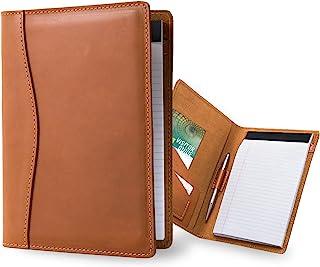 Leather Padfolio Jr. Legal Pad 组合收纳包 | 手工行政笔记本活页夹 | 重型全粒面牛皮小会议对折 适合男女性 | PEGAI 仿古质朴笔记本
