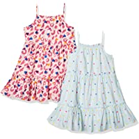 Amazon Brand - 斑点斑马女童编织无袖分层连衣裙