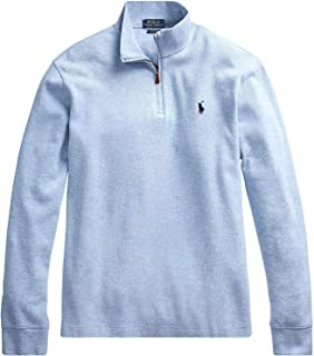 Polo Ralph Lauren 男式法国罗纹半拉链棉质毛衣