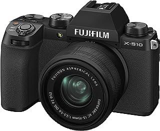 FUJIFILM 富士胶片 无反数码相机 X-S10 镜头套件(XC15-45) F X-S10LK-1545 黑色