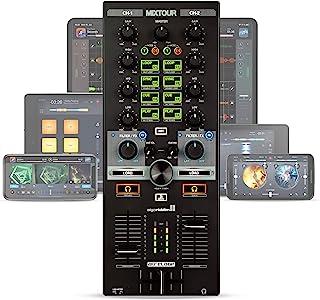 Reloop Mixtour 便携式 USB 一体式 DJ 控制器黑色
