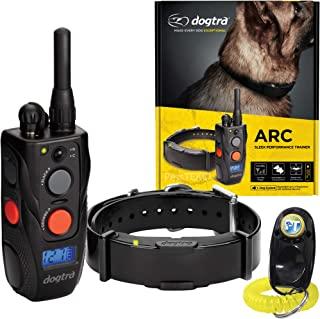 Dogtra ARC 远程训练项圈 - 3/4 英里范围,防水,可充电,震动 - 包括 PetsTEK 狗狗训练响片 黑色 1 Dog System - ARC