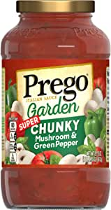 Prego Garden Harvest Mushroom & Green Pepper, 23.75 Ounce (Pack of 6)