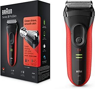Braun 博朗 Series 3 系列3 ProSkin 3030s 男士可充电式电动剃须刀,红色