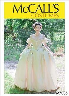 McCall's 女式维多利亚服装缝制安吉拉克莱顿,尺寸 14-22 种图案