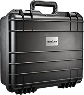 Mantona 户外照片手提箱 适用于 DSLR 相机 GoPro Actioncam/摄影设备(尺寸 M + 防水 ,防震,防尘)黑色
