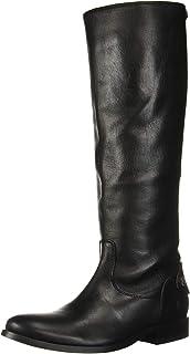 FRYE 女士 Melissa 纽扣后拉链及膝长筒靴
