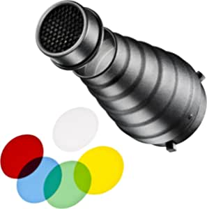 walimex 通用聚光附件套装15646 Broncolor Pulso Schwarz, Blau, Grün, Rot, Transparent, Gelb