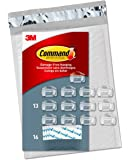 Command Clear Cord Clips, 13 Clips, 16 Strips (CL017-13NA…