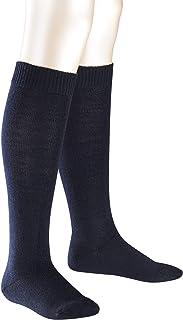 FALKE 中性儿童舒适羊毛及膝袜 - 美利奴羊毛/棉混纺,多种颜色,尺码:1 至 16 岁,英国3 – 8,1 双 – 适合男孩和女孩,长款,保暖