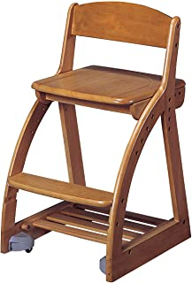 KOIZUMI(小泉学桌) 学习椅 棕色 W41.3×D49.5~54×H74.5㎝ SH42・45・48・51cm(外部尺寸) 4步骤椅 板座 棕色 CDC-764BS