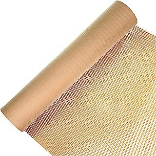 包装纸蜂窝缓冲包装卷 15 英寸 x 98 英尺牛皮纸穿孔包装纸,适合礼品包装移动运输