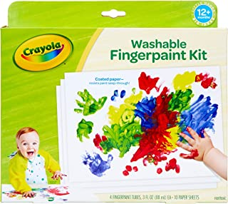 Crayola 绘儿乐 幼儿手指画套装 含画纸 宝宝涂鸦 礼盒装