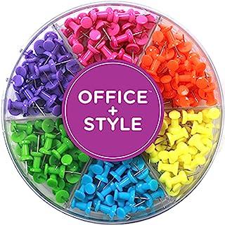 装饰性多色图钉适用于家庭和办公室,六色适用于可重复使用的整理容器,240 件,Office Style 出品 标准 标准