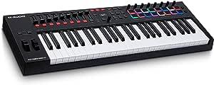 M-Audio Oxygen Pro 49 – 49键 USB MIDI 键盘控制器,带节拍垫,MIDI 可分配控制器,按钮和弹簧和软件包