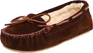 Minnetonka 女式 cally 人造毛拖鞋