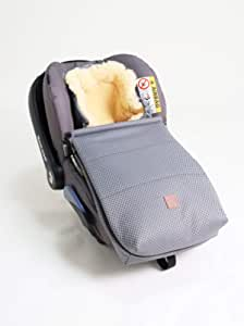 Kaiser Emma 婴儿座椅羊皮脚套 950 克,灰色