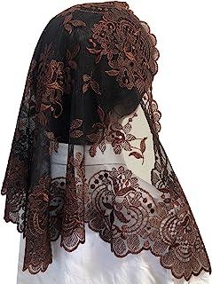 传统头巾刺绣头巾蕾丝三角头纱拉丁面纱