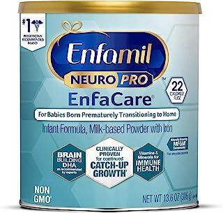 meadjohnson 美赞臣 Enfamil NeuroPro EnfaCare 铂睿 早产婴儿奶粉,罐装,12.8盎司,363克,含有铁,MFGM,Omega 3 DHA,益生元,有益于机体支持生长(包装可能有所不同)