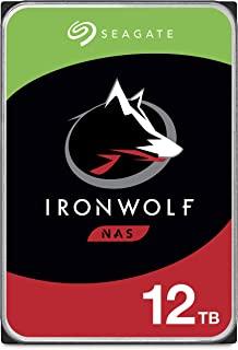 Seagate 希捷 IronWolf 12TB NAS内置硬盘 - 3.5英寸 SATA 6Gb/s 7200 RPM 256MB高速缓存,用于RAID网络连接存储 - 简约包装 (ST12000VN008)