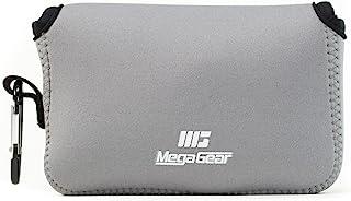 MegaGear 超轻氯丁橡胶相机包,包 - 适用于 Fujifilm X100T,X100F,X100S - 带登山扣,方便携带MG1095 Neoprene 灰色
