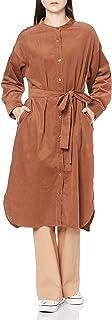 Cecile 衬衫 灯芯绒 长款衬衫 带腰带 *棉 长袖 女士 MW-3313