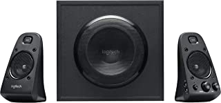 Logitech 罗技 Z623 THX 2.1扬声器系统 低音炮 400瓦峰值功率 3.5毫米和RCA输入 英国插头 PC/PS4/Xbox/DVD播放器/电视/智能手机/平板电脑,黑色