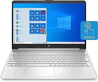HP 惠普 15 英寸触摸屏笔记本电脑,AMD Athlon Gold 3150U,4 GB RAM,128 GB SSD,Windows 10 家庭模式(15-ef1010nr,天然银)