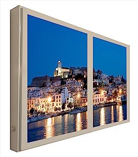 ccretroiluminados Ibiza Windows 假桌装饰照明,木质,多色,80 x 6.5 x 60 厘米