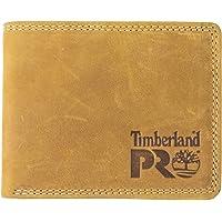 Timberland PRO 男士修身皮革 RFID 双折钱包带背面身份证窗口