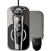 Philips 飞利浦 9000系列 SP9860/16 干湿两用电动剃须刀 纳米技术精密刀片,修剪器,无线充电的Qi充…