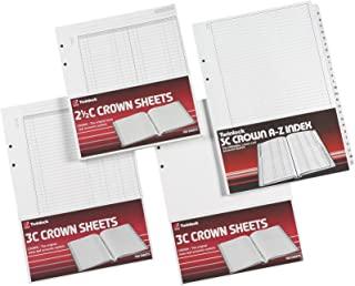 Rexel Twinlock Crown 2 ½ C 替换纸高音现金账簿(每包 100 张)